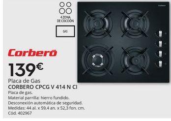 Oferta de Placa de gas Corberó por 139€