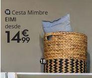 Oferta de Cesta de mimbre por 14,99€