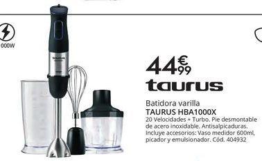 Oferta de Batidora de varillas Taurus por 44,99€