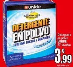 Oferta de Detergente en polvo UNIDE por 3,99€