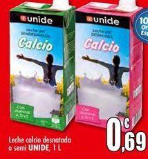 Oferta de Leche calcio desnatada o semi UNIDE por 0,69€
