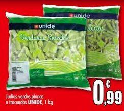 Oferta de Judías verdes planas o troceadas UNIDE por 0,99€