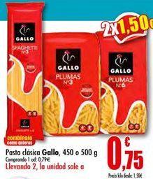 Oferta de Pasta clásica Gallo por 0,79€
