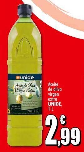 Oferta de Aceite de oliva virgen extra UNIDE por 2,99€