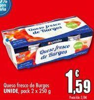 Oferta de Queso fresco de Burgos UNIDE por 1,59€