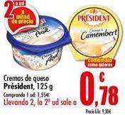 Oferta de Cremas de queso Président  por 1,55€