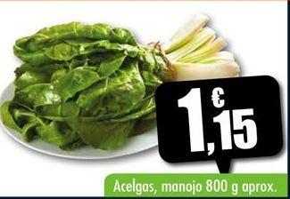 Oferta de Acelgas por 1,15€