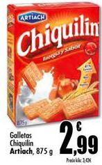 Oferta de Galletas Chiquilín Artiach por 2,99€