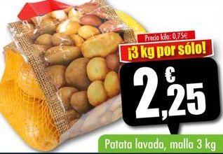 Oferta de Patata lavada por 2,25€