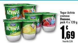 Oferta de Yogur Activia cremoso Danone por 1,69€