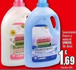 Oferta de Suavizante fresco o natural UNIDE por 1,69€