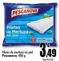 Oferta de Filetes de merluza sin piel Pescanova por 3,49€