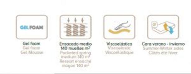 Oferta de Colchón ICE (muelles ensacados + visco + gel foam) por 305€