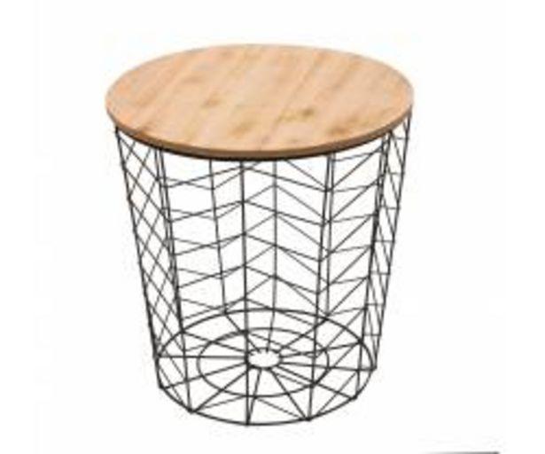 Oferta de Mesita metal tapa de madera HALLDIS por 21€