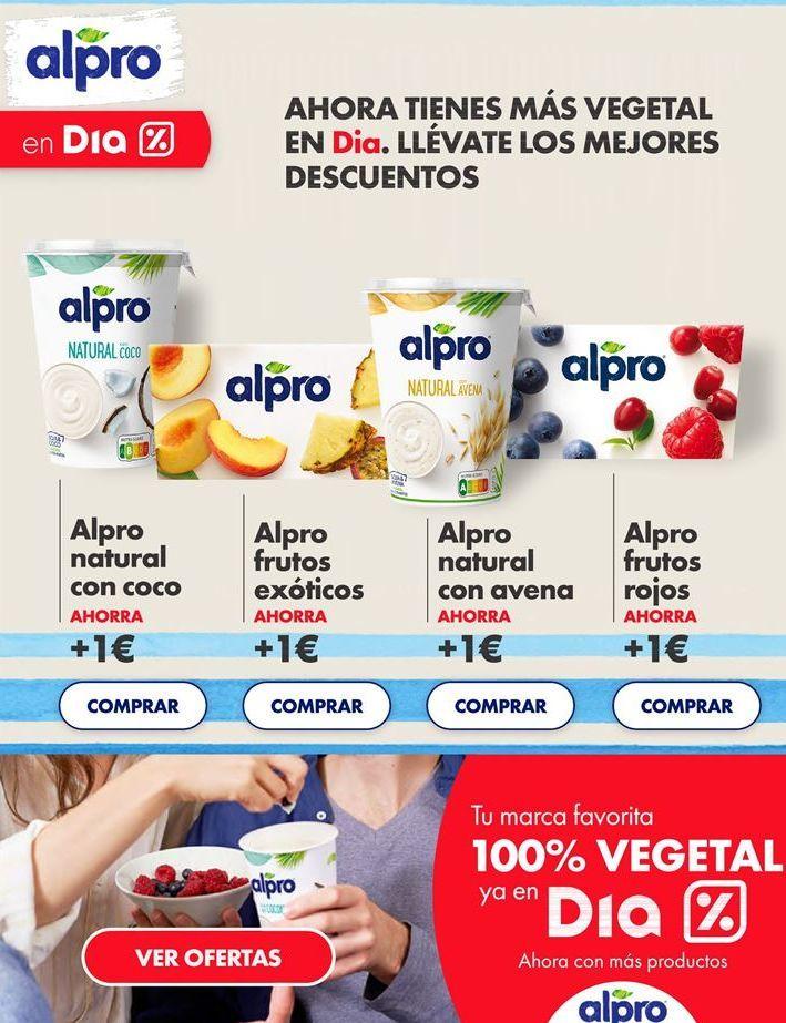 Oferta de Yogur Alpro por
