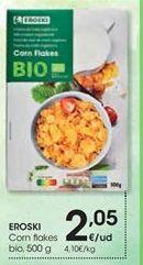 Oferta de EROSKI Corn flakes bio, 500 g por 2,05€