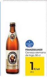 Oferta de FRANZISKANER Cerveza alemana de trigo, 50 cl por 1€