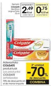 Oferta de COLGATE Dentífrico original Total, 75 ml por 2,49€