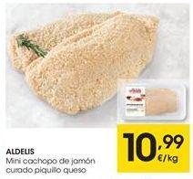 Oferta de ALDELIS Mini cachopo de jamón curado piquillo queso por 10,99€