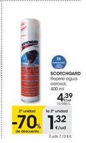 Oferta de SCOTCHGARD Repele agua aerosol, 400 ml por 4,39€