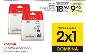 Oferta de CANON Cartucho de tinta PG-545 negro por 18,9€