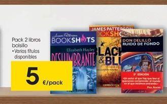 Oferta de Pack 2 libros bolsillo por 5€