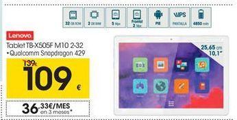 Oferta de Lenovo Tablet TB-X505F M10 2-32 por 109€