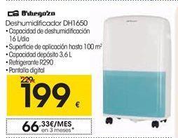 Oferta de Orbegozo Deshumidificador DH1650 por 199€