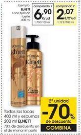 Oferta de ELNETT Laca fijación fuerte, 400 ml por 6,9€
