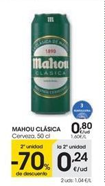 Oferta de MAHOU CLÁSICA Cerveza, 50 cl por 0,8€