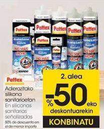 Oferta de En siliconas sanitarias señalizadas Pattex por