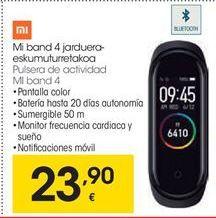 Oferta de Xiaomi Pulsera de actividad MI band 4 por 23,9€