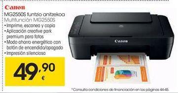 Oferta de Canon Multifunción MG2550S por 49,9€