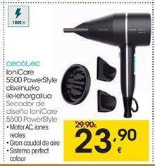 Oferta de Cecotec Secador de diseño IoniCare 5500 PowerStyle por 23,9€