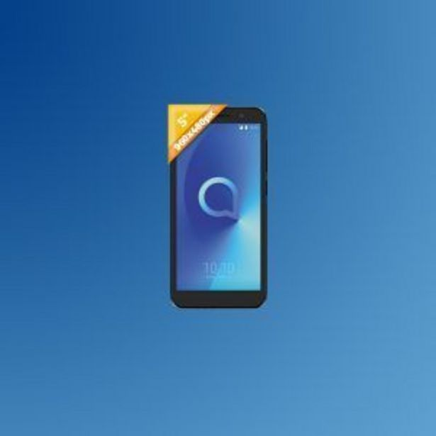 "Oferta de SMARTPHONE ALCATEL 5033D 5"" BLUISH BLACK 8GB por 54,9€"