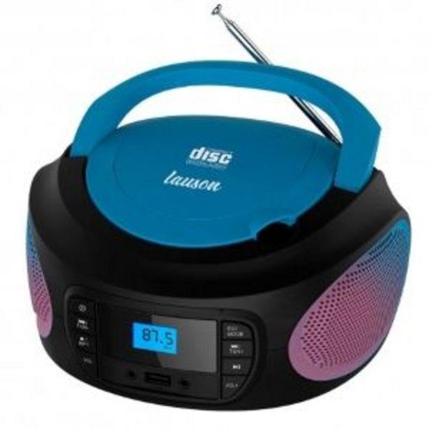 Oferta de RADIO CD LAUSON LLB997 LUCES LED AZUL por 36,9€