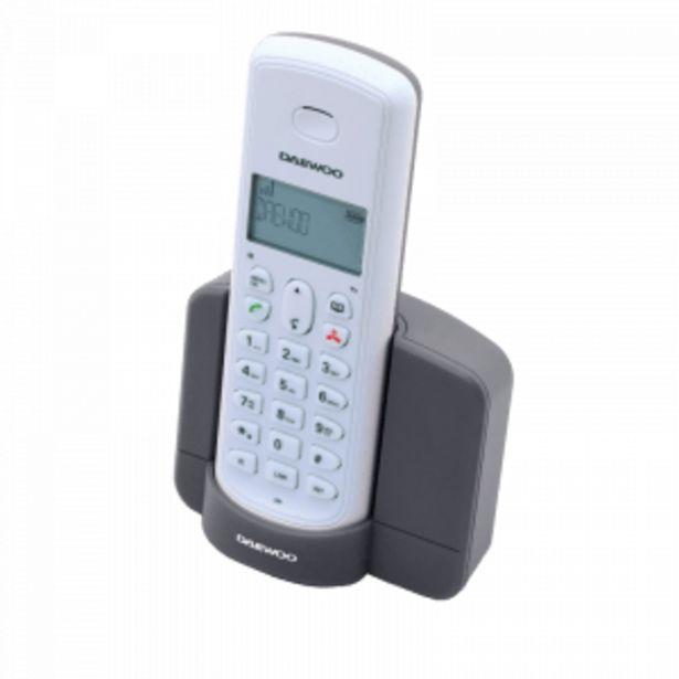 Oferta de TELÉFONO INALÁMBRICO DAEWOO DTD-1350 GRIS-BLANCO por 21,9€