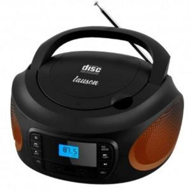 Oferta de RADIO CD LAUSON LLB998 LUCES LED NEGRO por 36,9€