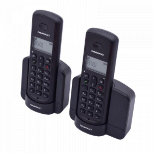 Oferta de TELÉFONO INALÁMBRICO DAEWOO DTD-1350 DUO por 37,9€
