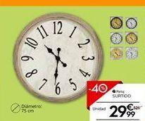 Oferta de Reloj de pared por 29,99€