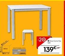Oferta de Mesa de cocina Six por 139€