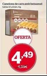 Oferta de Canelones de carne por 4,49€
