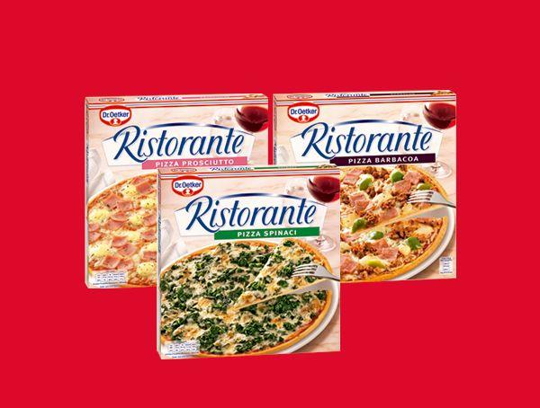 Oferta de Pizzas finas Ristorante diferentes variedades por 1,7€