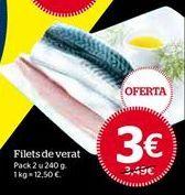 Oferta de Filetes de caballa por 3€