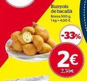 Oferta de Buñuelos de bacalao por 2€