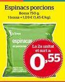 Oferta de Espinacas por 0,55€