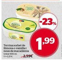 Oferta de Tarrina de helado por 1,99€