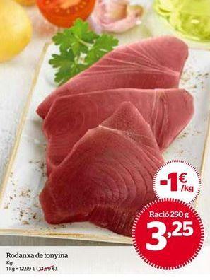 Oferta de Rodajas de atún por 12,99€