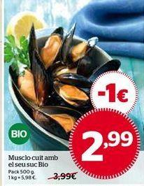 Oferta de Mejillones cocidos por 2,99€
