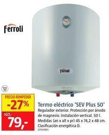Oferta de Termo eléctrico por 78€